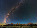 The Night Sky over the Teton Mountains Photographic Print by Babak Tafreshi