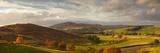 A Road Winding Through an Autumn Coloured Landscape; Scots View Scottish Borders Scotland Reproduction photographique par  Design Pics Inc