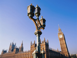 Houses of Parliament and Street Lamp Photographic Print by  Design Pics Inc