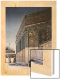 A View of the Dome of the Chain and the Dome of the Rock in Jerusalem Wood Print by Maynard Owen Williams