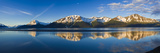 Panoramic View of Turnagain Arm and Kenai Mountains Near Girdwood Reproduction photographique par  Design Pics Inc