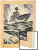 A Painting of the U.S. Battleships, Maryland and New Mexico Wood Print by Andre Durenceau