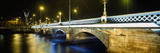 Queens Bridge over River Lagan at Night Photographic Print by  Design Pics Inc