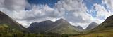 A Mountainous Landscape under Clouds; Glencoe, Argyll, Scotland Fotografisk tryk af  Design Pics Inc