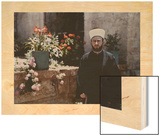His Eminence Haj Amin Al-Husseini, a Palestinian Spiritual Leader Wood Print by Maynard Owen Williams
