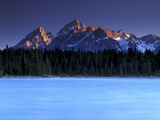 Sunset on the Teton Range, from a Crystal Clear Jackson Lake in Grand Teton National Park Photographic Print by Keith Ladzinski