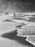A Local Fisherman Fishing on Itamambuca Beach, Ubatuba, Brazil Stampa fotografica di Alex Saberi