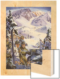 U.S. Ski Troops Train in the Snow for Mountain Work Wood Print by Andre Durenceau