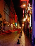 Illuminated Street at Night Photographic Print by  Design Pics Inc