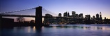 Sunset over Lower Manhattan and Brooklyn Bridge Photographic Print by  Design Pics Inc
