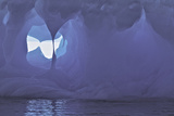 Textures and Holes in an Iceberg, Caused by Erosion Photographic Print by Jim Richardson