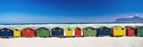Row of Beach Houses on Beach Fotografisk tryk af  Design Pics Inc