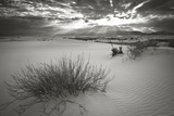 Dunes with Snow in White Sands National Monument Photographic Print by Derek Von Briesen