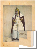 An Ouled Nail Tribal Cafe Dancer Bejeweled in Gold and Silver Coins Wood Print by Unknown Unknown