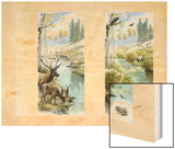 A before and after of Yellowstone's Habitat with and Without Wolves Wood Print by Fernando G. Baptista
