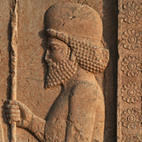 Detail of a Relief in Persepolis, Showing a Mede Soldier Photographic Print by Babak Tafreshi