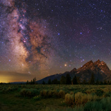 The Milky Way over the Teton Range Photographic Print by Babak Tafreshi