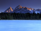 Jackson Lake and Tetons at Sunrise, Grand Teton National Park, Wyoming Photographic Print by Keith Ladzinski
