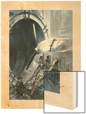 Wind Tunnels Hurl Superhurricanes for Testing Airplanes Wood Print by Thornton Oakley