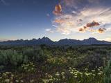 Sunset at the Grand Teton National Park Photographic Print by Babak Tafreshi