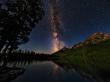 The Milky Way Shines over the Teton Range Photographic Print by Babak Tafreshi