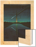 A Painting by Charles Bittinger Depicts a Comet with a Tail Wood Print by Charles Bittinger