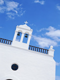 Whitewashed Church with Bell Tower Photographic Print by  Design Pics Inc