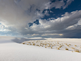 Summer Monsoon Clouds over White Dunes in White Sands National Monument Photographic Print by Derek Von Briesen