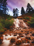 Helen Hunt Falls at Sunset, North Cheyenne Canyon Park, Colorado Springs Photographic Print by Keith Ladzinski