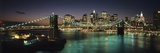 Brooklyn Bridge and Lower Manhattan at Dusk from Manhattan Bridge Photographic Print by  Design Pics Inc