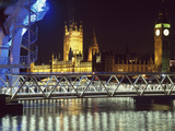 Houses of Parliament and Millenium Wheel (London Eye). London,England Photographic Print by  Design Pics Inc