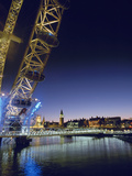 London Eye and Houses of Parliament at Dusk Photographic Print by  Design Pics Inc
