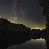 The Milky Way over a Lake in Central Germany, Near the Town of Lich Photographic Print by Babak Tafreshi