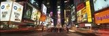Design Pics Inc - Times Square in Midtown Manhattan Illuminated at Night Fotografická reprodukce