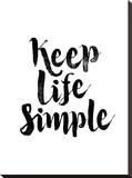 Keep Life Simple Stretched Canvas Print by Brett Wilson