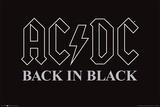 AC/DC Back In Black Plakaty