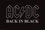 AC/DC Back In Black Póster