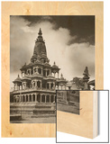 The Krishna Mandir Temple in Patan, Nepal Wood Print by John-Claude White