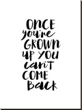 Once Youre Grown Up You Cant Come Back Stretched Canvas Print by Brett Wilson