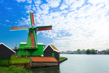 Authentic Zaandam Mills on the Water Channel Photographic Print by  SerrNovik
