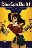DC Bombshells- Wonder Woman She Can Do It! Kunstdrucke