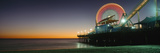 Ferris Wheel and Rollercoaster at Dusk on the Santa Monica Pier Photographic Print by  Design Pics Inc