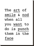 The Art of Smile and Nod Stretched Canvas Print by Brett Wilson