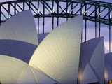 Looking over the Opera House to the Sydney Harbor Bridge, Close Up Photographic Print by  Design Pics Inc