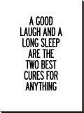 A Good Laugh and a Long Sleep Stretched Canvas Print by Brett Wilson