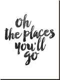 Oh the Places Youll Go Stretched Canvas Print by Brett Wilson