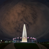 A Wide-Angle Panoramic View of the Washington Monument Photographic Print by Babak Tafreshi