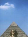Sphinx in Front of Pyramid of Chephren Photographic Print by  Design Pics Inc