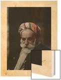 Portrait of an Older Man Wearing a Turban Wood Print by Maynard Owen Williams