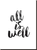 All Is Well Stretched Canvas Print by Brett Wilson